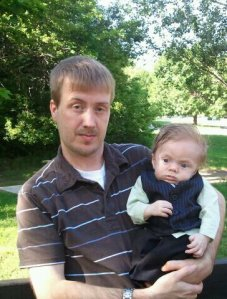 Jason Curtis with his son Jackson -photo courtesy the Curtis family