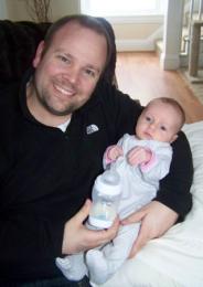 Josh Burns with his daughter Naomi
