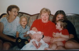 Suzanne Johnson with family