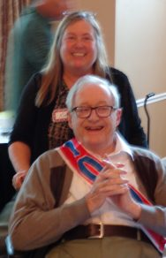 Kim Hart and Dr. Guthkelch, his 100th birthday